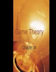 Game Theory Chapter 14