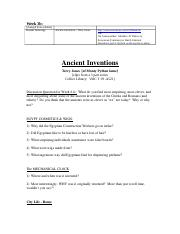 WK 3b, Videos Ancient Inventions, Terry Jones crazy, video guide, 4wkversion