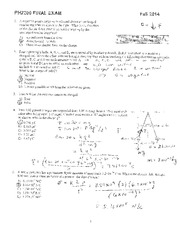ph2200 final exam fall 2014-SOLUTIONS