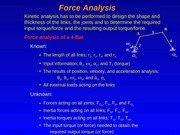 (5) Force Analysis