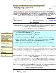 Pauls Online Notes Calculus Ii More On Sequences Paul S Online Math Notes Home Class Notes Extras Reviews Search Cheat Sheets Tables Downloads Course Hero The notes contain the usual topics that are taught in those courses as well as a few extra topics that i decided to include just because i wanted to. course hero
