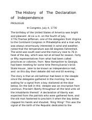 The History   of   The  Declaration  of   Independence.docx