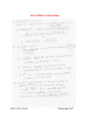 Midterm 1 Review Sheet Solutions