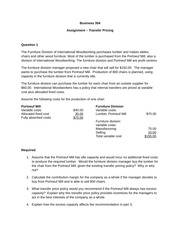 Assignment  - Transfer Pricing(1)