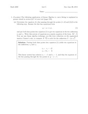 Lab 5 Solution Summer 2014 on Differential Equations and Linear Algebra