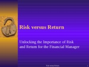 Risk vs Return0