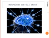 Behaviorism and Social Theory