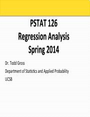 PStat 126 S14 Lecture 6