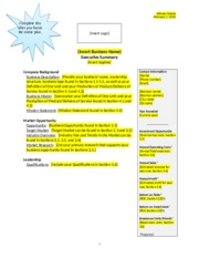 Soap Business Plan Template