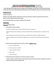 Unit 1.01-1.09 MID Review Worksheet