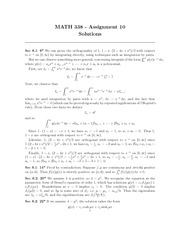 MATH 338 Assignment 10 Solutions