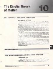 Kinetic Theory of Matter Pages 67-70 - GaTerrilyn Heard