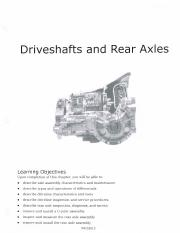 Ch 4 - Driveshafts and Rear Axles