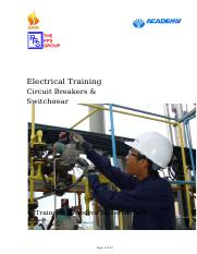 E-05 Circuit Breakers & Switchgear Trainer's Resource material pack WC_Rev1.doc