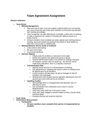 Team Agreement
