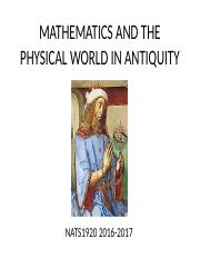 7 MATHEMATICS AND THE PHYSICAL WORLD IN ANTIQUITY 0 (1).pptx
