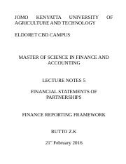 Financial reporting notes 4