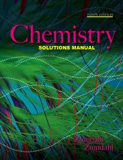 Chemistry 9th Edition - Solution Manual