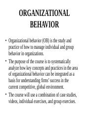 Organizational Behavior Introduction (1)