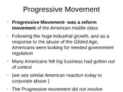 Cy Fair HIST 1302 Progressive Movement - Copy