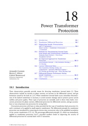 Chapter 18. Power Transformer Protection