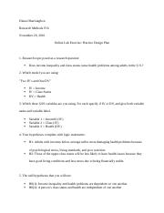 Research Methods Online Lab Design Plan