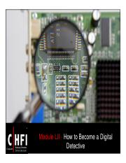 CHFI v4 Module 52 How to Become a Digital Detective