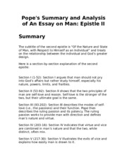 an essay on man epistle ii An essay on man alexander pope to h st john, l bolingbroke pope, alexander epistle l of the nature and state of man with respect to the universe ammon loose to scourge mankind from pride, from pride, our.