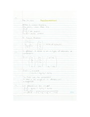 Applied Math - Transformations pt 1 Lecture Note