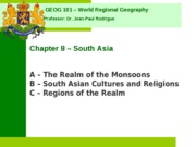 Geog 001 Chapter 8 (South Asia)