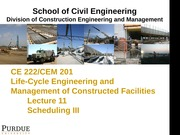 Lecture 11-Scheduling PDM
