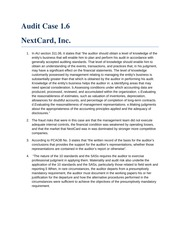 nextcard inc Nextcard case nextcard's pressure was in rapid growth by extending credit of more than $1 billion to customers without profits but rather large losses.