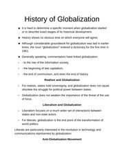 History of Globalization Notes