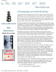 eBook - PDF - The Instructor 13 - A Chess Player and How He Grows - Dvoretsky - Chess.pdf