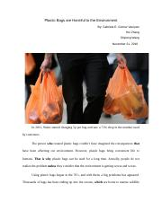 Plastic bags are harmful to environment 2