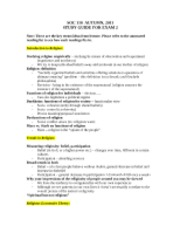 soc exam 2 study guide