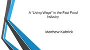 A Living Wage and FF Industry