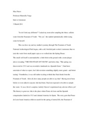 Fountain of Youth Essay