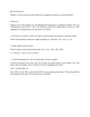 Selected Question Solution