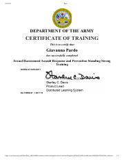 isoprep army 1. ISOPREP.pdf - CERTIFICATE OF COMPLETION This Certifies that ...