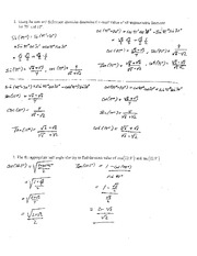 Test 5 Solution Summer 2014 on Pre-Calculus