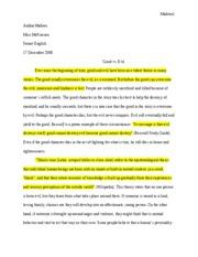 Good vs evil essay topics
