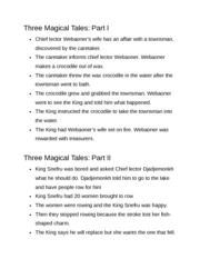 Three Magical Tales Parts 1 and 2