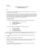 ACC 210 - Chapter 5 - Additional HW questions