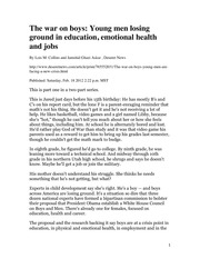 Collins 2-2012 Young men losing ground in education_The war on boys