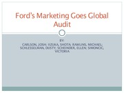 Ford's Marketing Goes Global Group 4