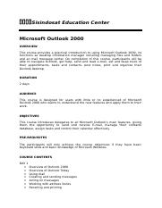Microsoft Outlook 2000.doc