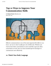 Pocket_ Top 10 Ways to Improve Your Communication Skills