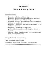 BUS360 Exam #1 Study Guide