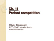 Ch 11 - Perfect competition